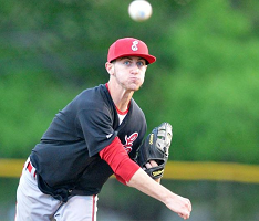 Easton senior Casey Brown tossed a complete game and drove in the winning run (lehighvalleylive.com file photo).