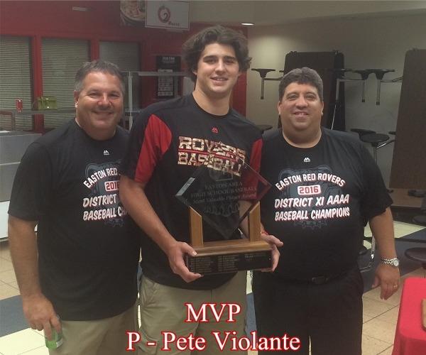 2016 MVP, Pete Violante