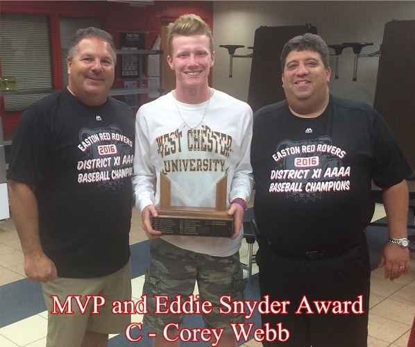 2016 MVP and Eddie Snyder Award Winner, Corey Webb
